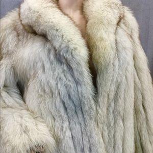 Saga Fox Cream Fur Coat
